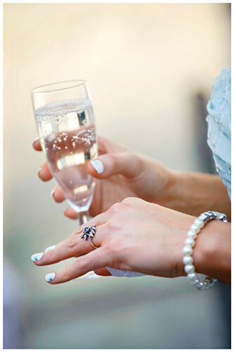Michaelhouse wedding wedding band champagne glass