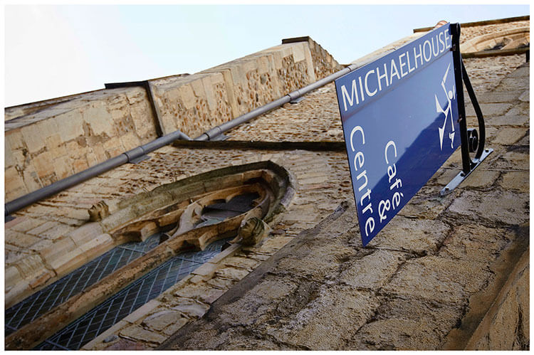 Michaelhouse wedding blue sign