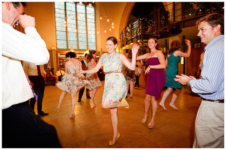 Michaelhouse wedding laughing on the dance floor