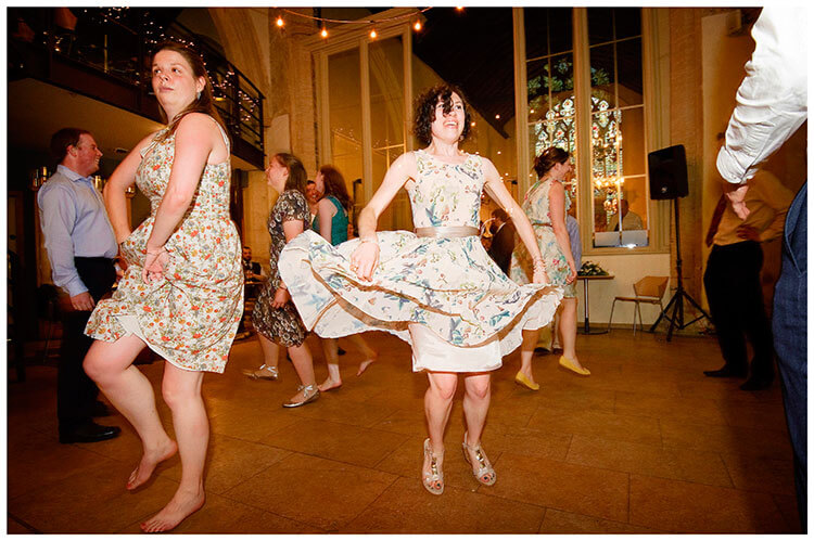 Michaelhouse wedding flapping skirt during dancing