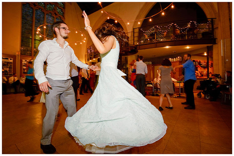 Michaelhouse wedding groom spins bride on dance floor
