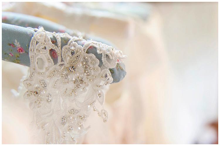 Bridal Gown Gorgeousness Dress Day UK London wedding dress shoulder detail