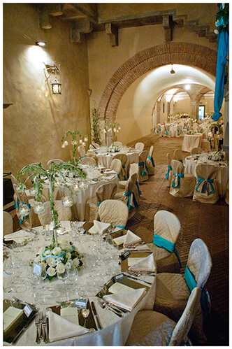 Castel di Poggio wedding tables