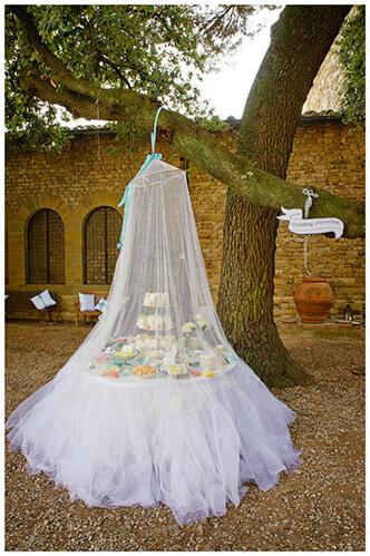 Castel di Poggio wedding venue sweey table