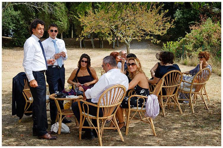 Castel di Poggio wedding guests
