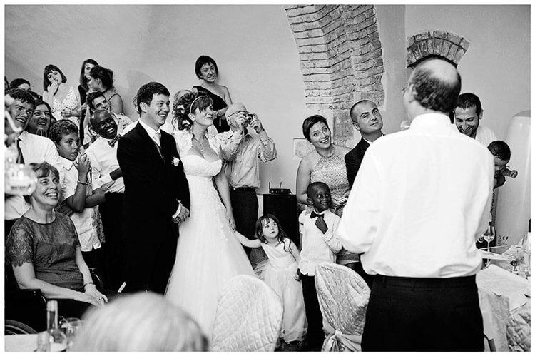 Castel di Poggio wedding fathers speech
