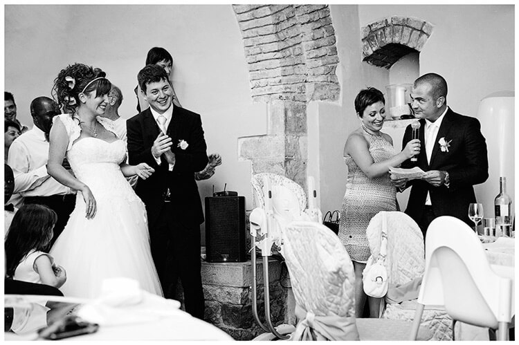 Castel di Poggio wedding bestmans speech