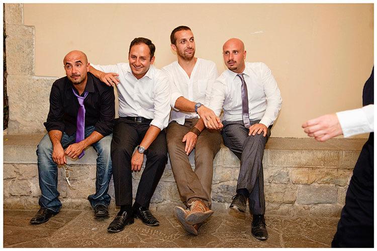 Castel di Poggio wedding the boys