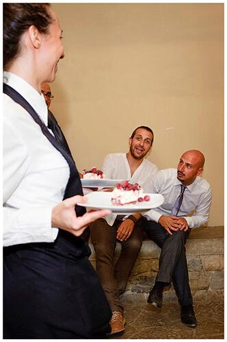 Castel di Poggio wedding hello dessert