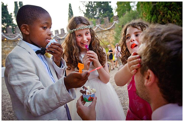 Castel di Poggio wedding what flavour ice-cream