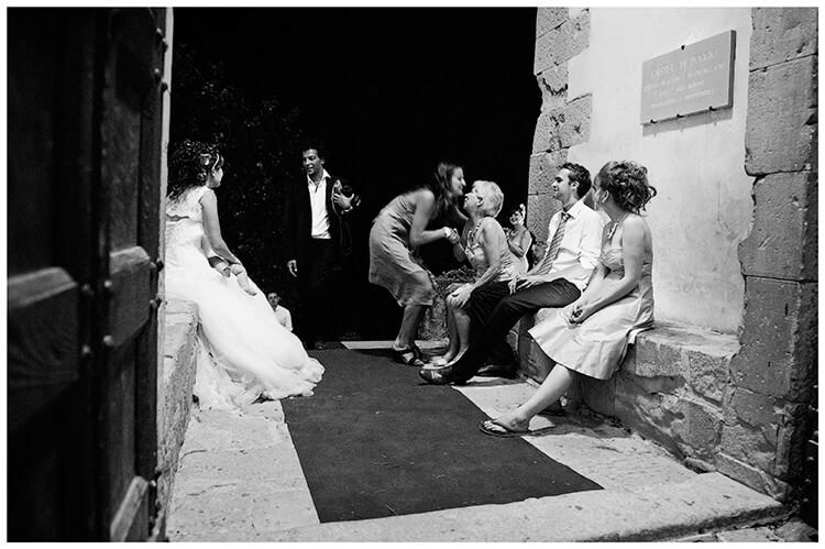 Castel di Poggio wedding syaing goodnight