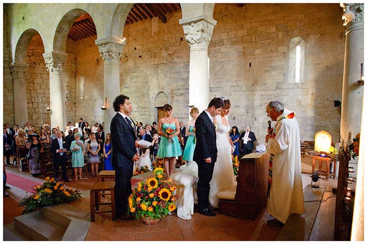 Fraternita di Romena wedding ceremony