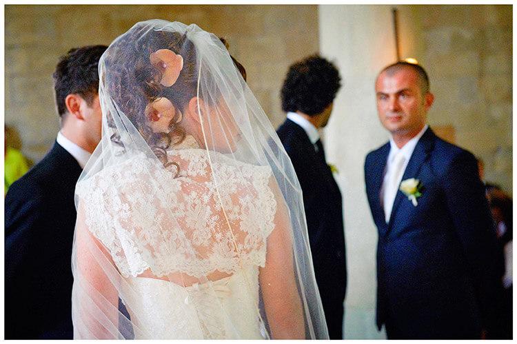 Fraternita di Romena wedding brides veil