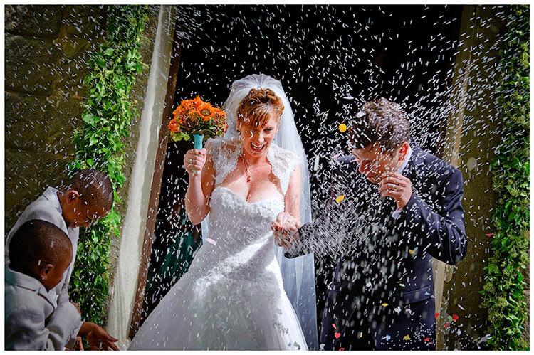 Fraternita di Romena wedding confetti Rice