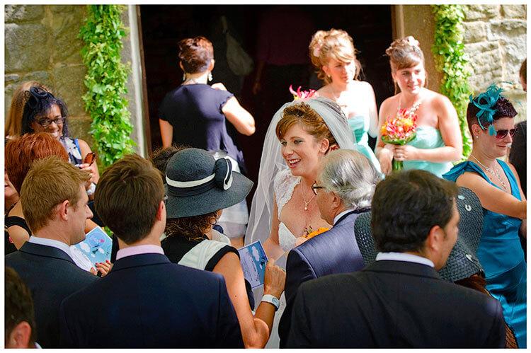 Fraternita di Romena wedding congratulating the Bride