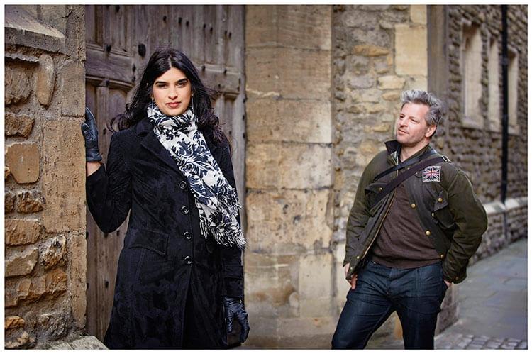 pre-wedding photography Cambridge Striking a pose