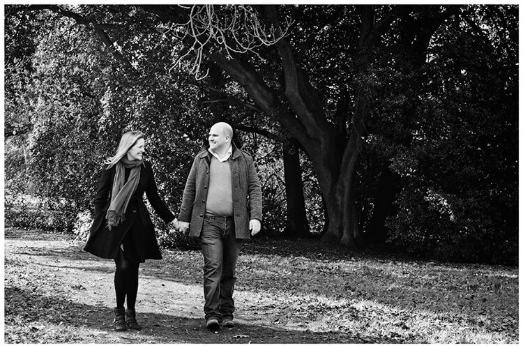 Sculpture Gallery Pre-Wedding photography couple walking hand in hand
