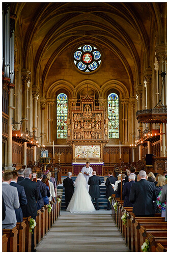 Woburn Church wedding ceremony