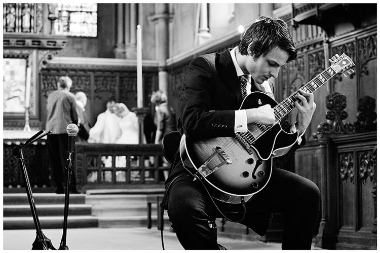 Woburn Church wedding guitarist