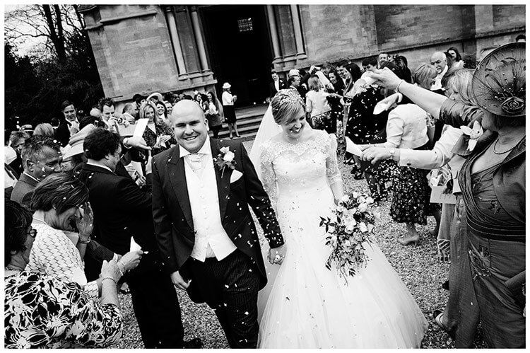 Woburn Church wedding confetti