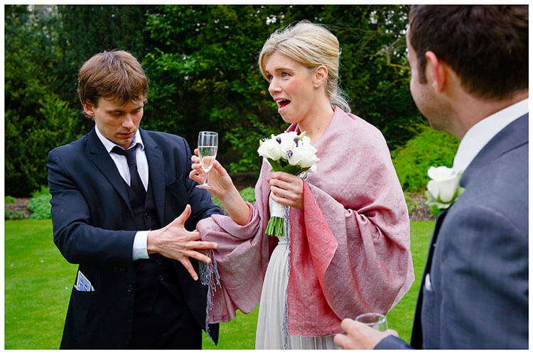 Christ's College wedding bridesmaids horror as magician puts lit cigerette into her wrap