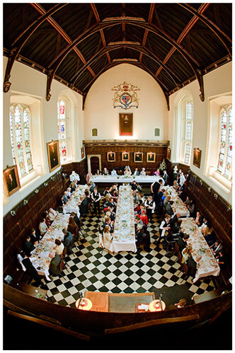 Christ's College wedding old hall