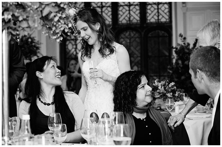 Wedding photography at Hengrave Hall conversation with bride
