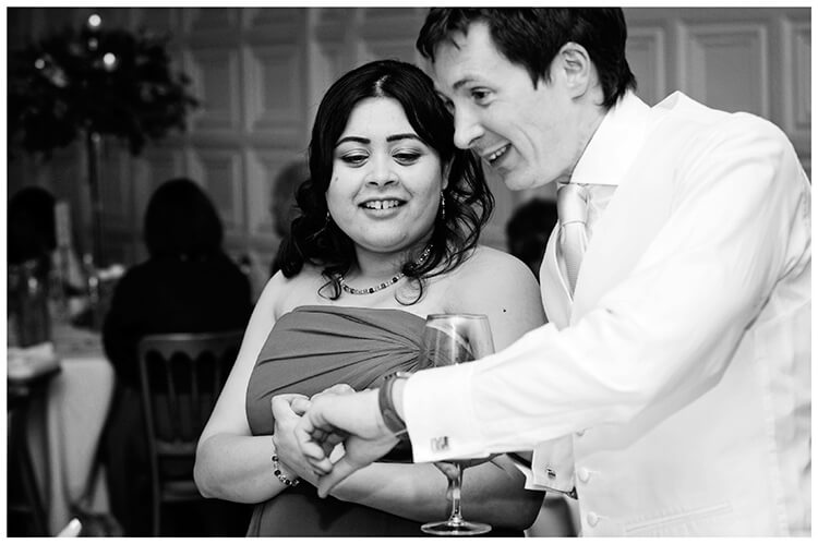 Wedding photography at Hengrave Hall the time is