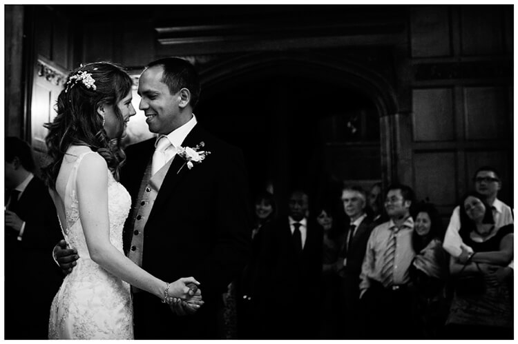 Wedding photography at Hengrave Hall first dance