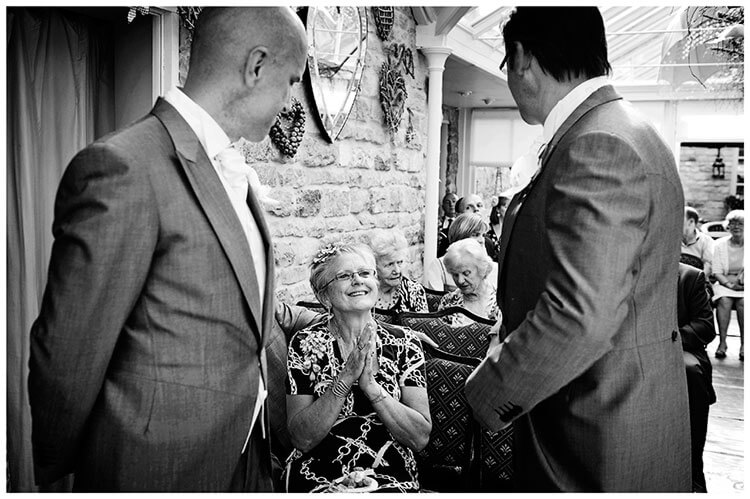 Barnsdale Lodge Hotel wedding excited grooms mother