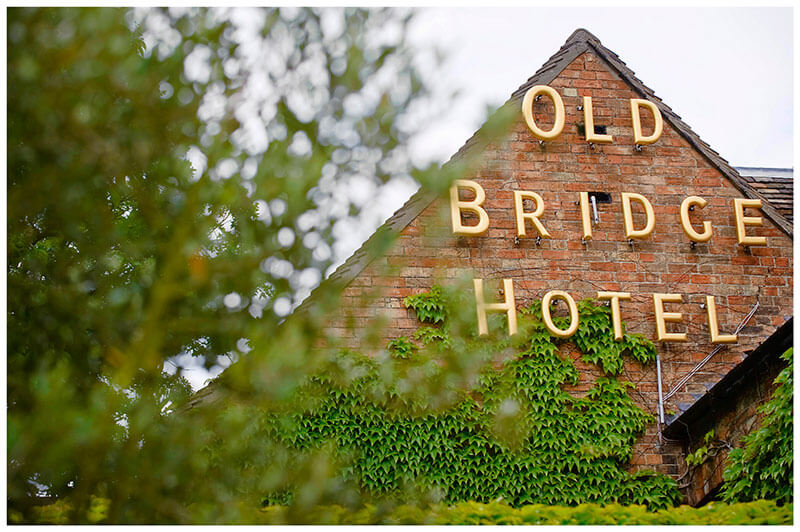 Boutique Hotel wedding Old Bridge Hotel signage