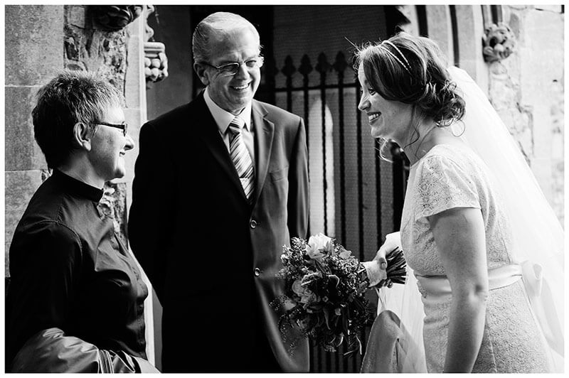 bride thanks vicar