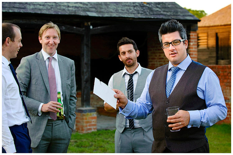 Childerley Hall Summer Wedding male guests