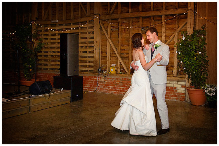 Childerley Hall Summer Wedding bride groom embrace on dance floor