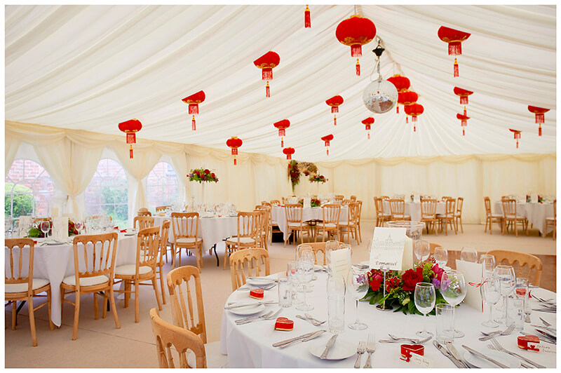 marquee red lanterns