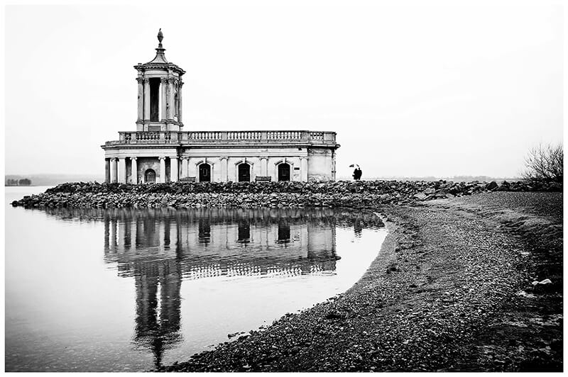Normanton Church black and white wedding photography