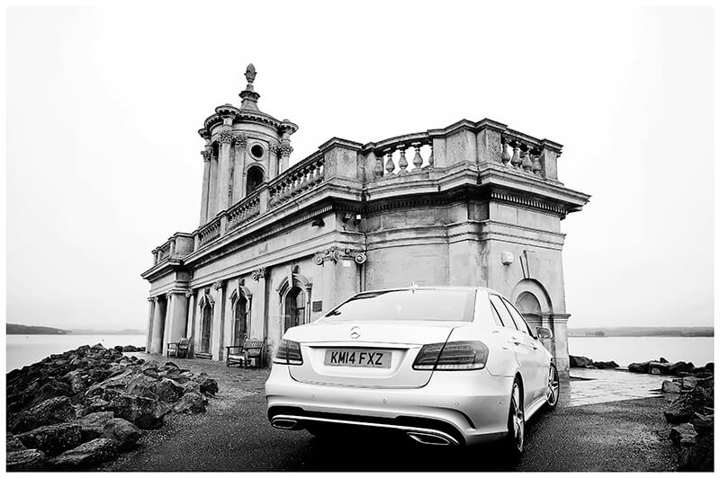 wedding car outside Normanton Church