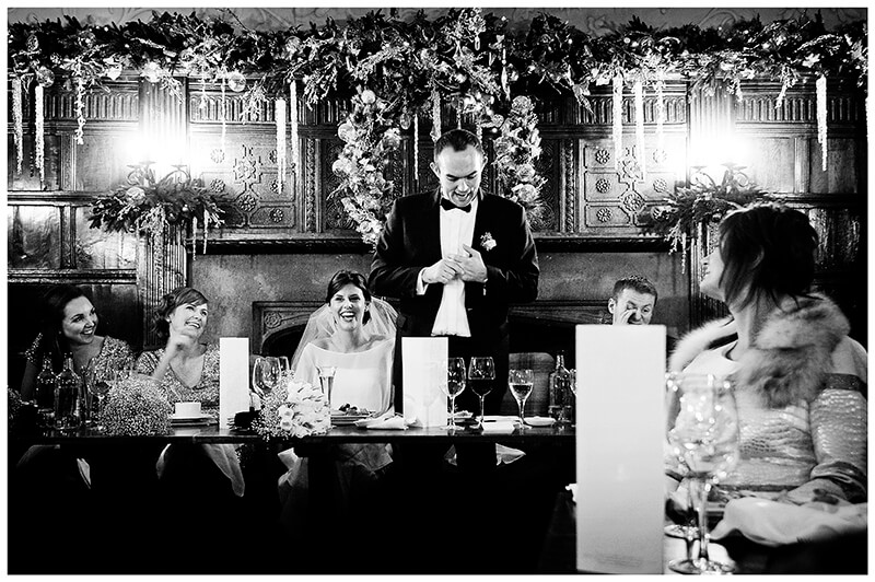 grooms speech in the George Hotels dining room