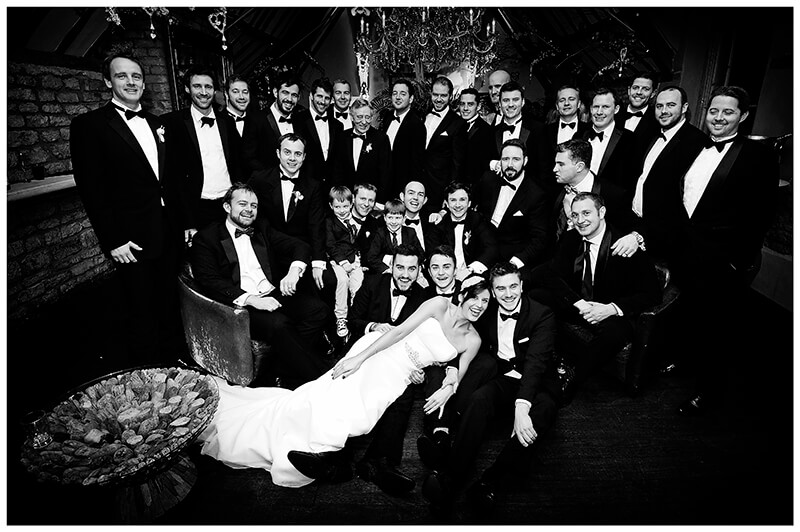 all the guys and bride