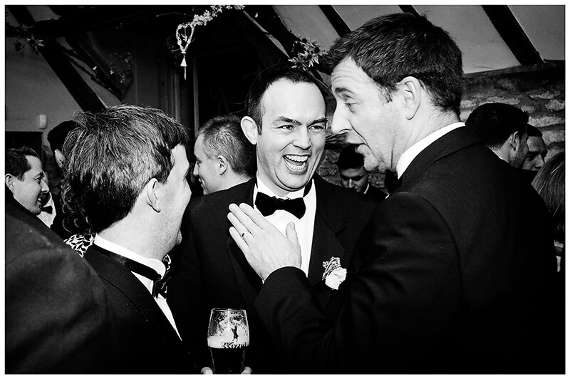 making the groom laugh