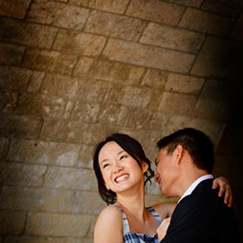 Jack and Michele embrace under Paris Bridge