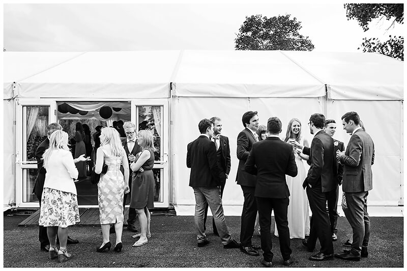 Oxfordshire friars Court Wedding outside the marquee