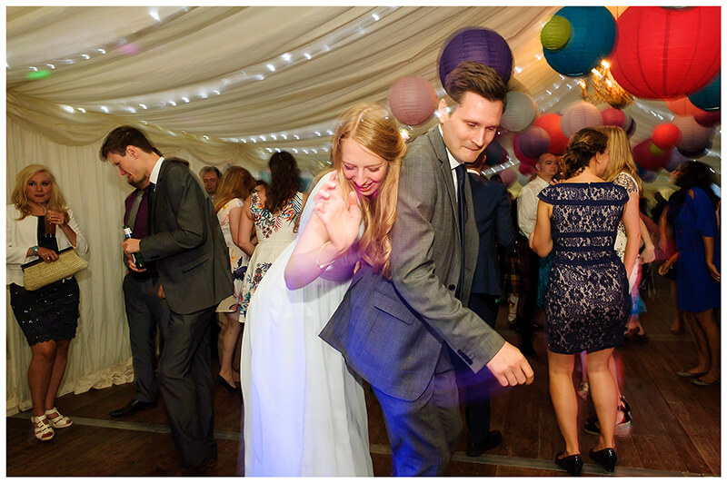 Wedding guest fun on the dance floor