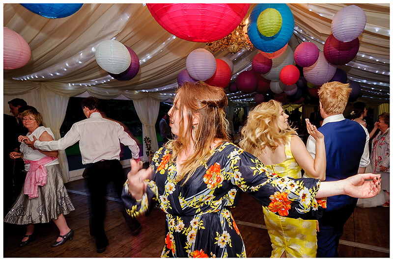 guests enjoying dancing on the dance floor