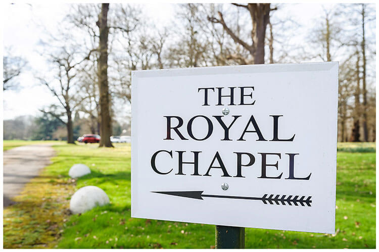 Royal Chapel Windsor Great Park sign