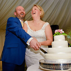 Ian & Hannah Churchill College Marquee Wedding
