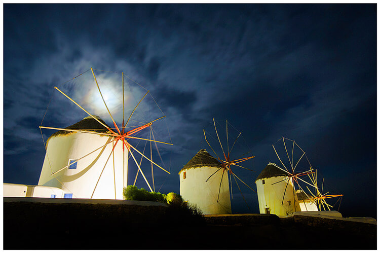 destination wedding Mykonos windmills greece
