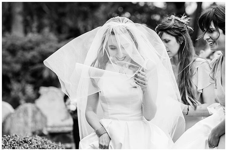 Best Wedding Photography of 2017 bride and her veil