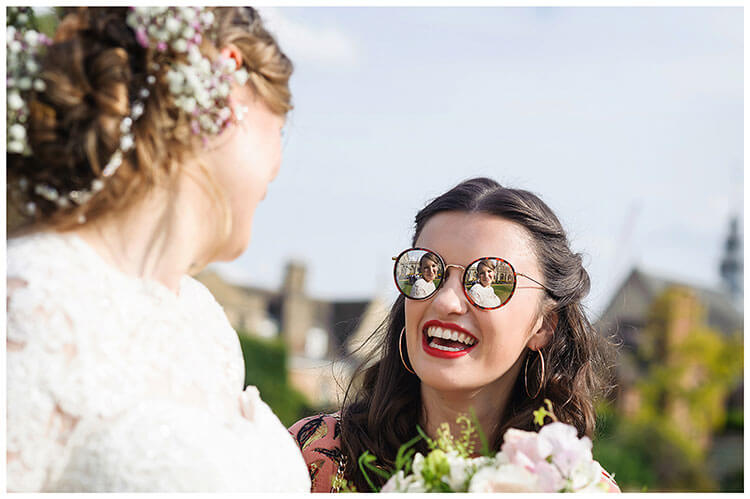 Best Wedding Photography of 2017 reflection of bride in ladies sunglasses