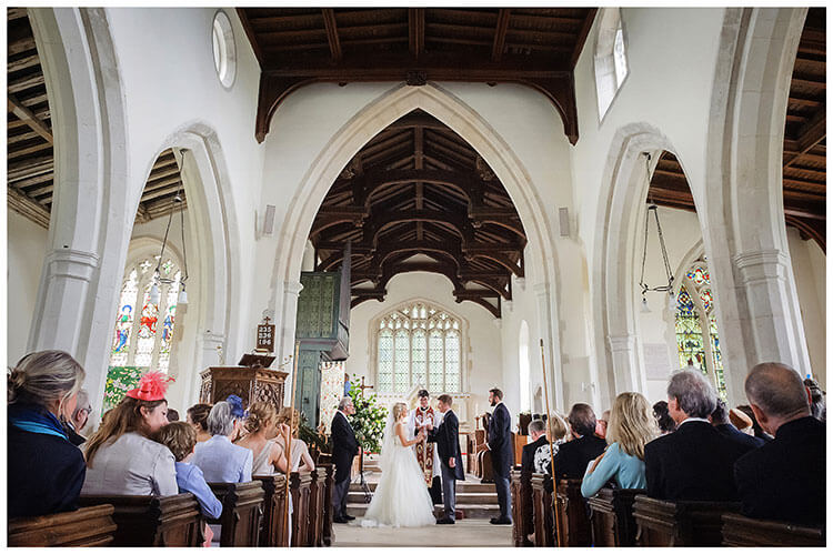 Crishall Cambridgeshire Village Church wedding exchange of vows
